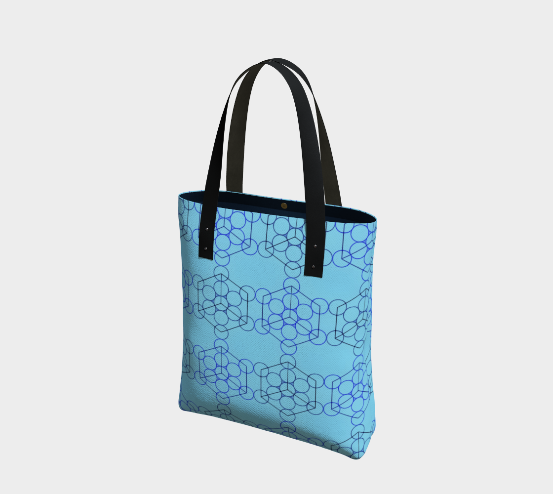 Geometric Tiling Blue Tote Bag preview