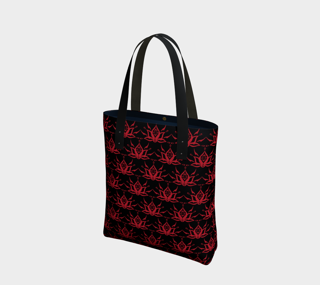 Black and Red Lotus Tote preview