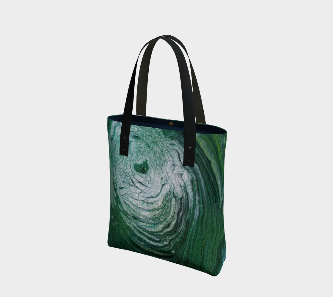 emerald geode tote bag preview
