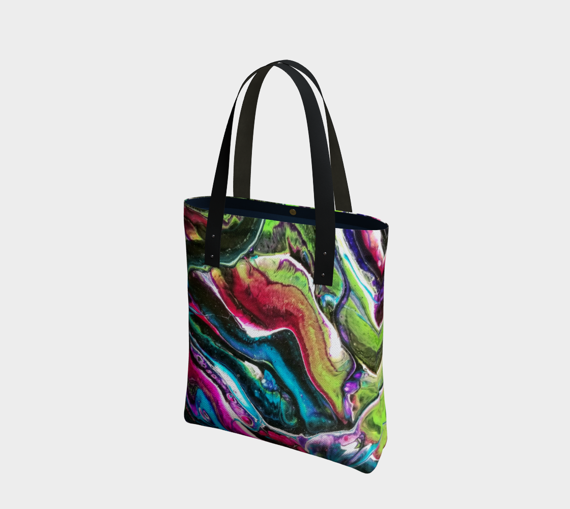 dark bright abstract tote bag preview