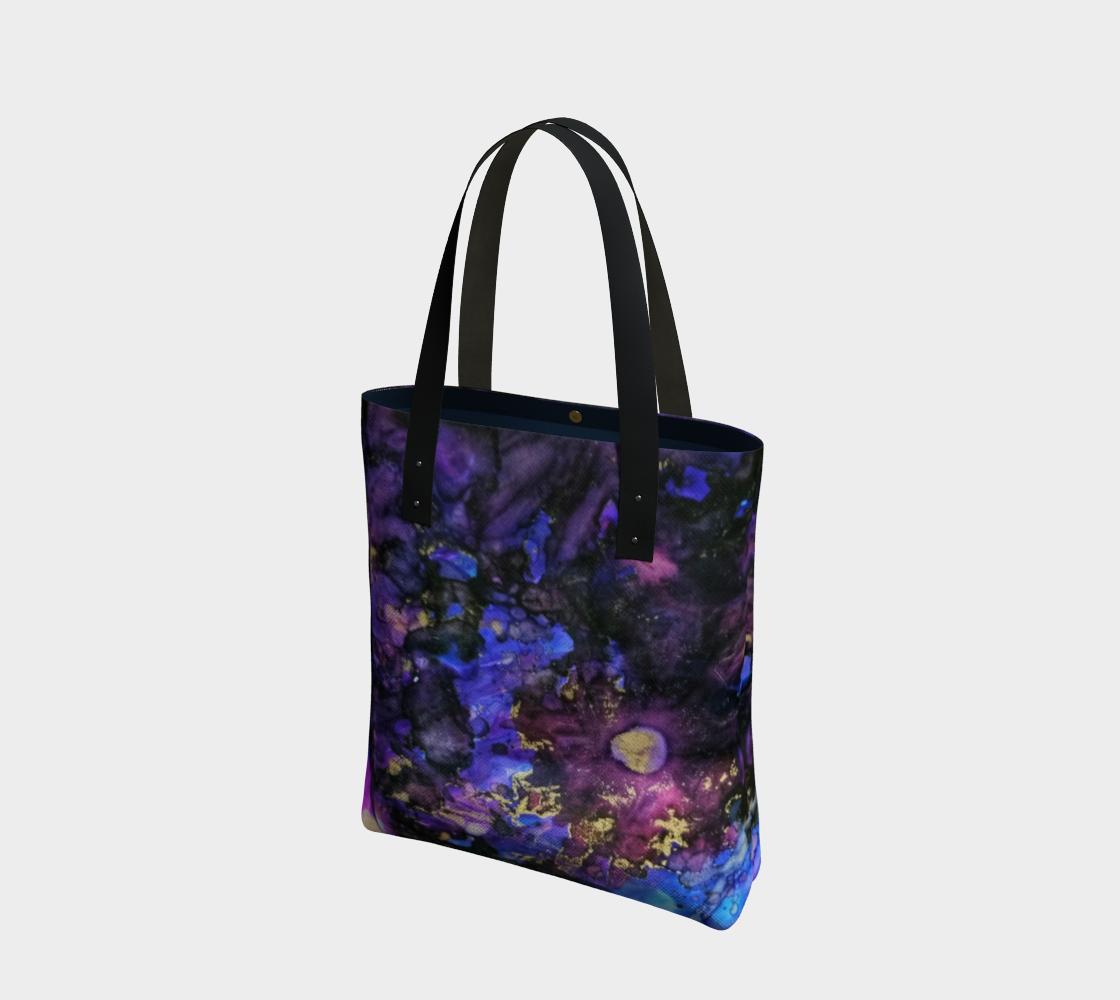 purple daisy tote bag preview