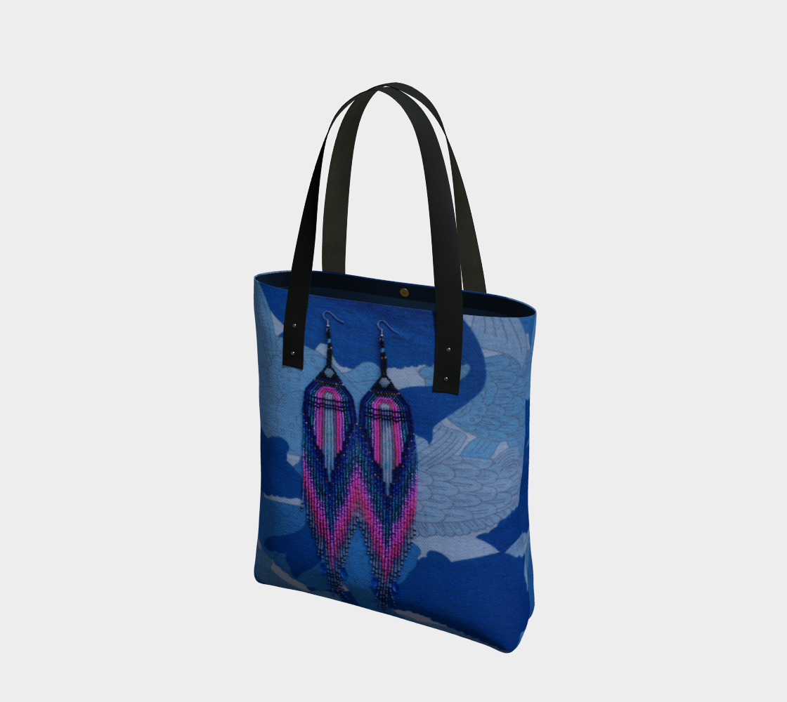 gux dema giant earrings tote preview