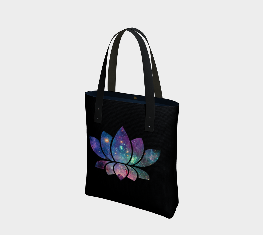 Cosmic Lotus Cotton Tote Bag AOW preview