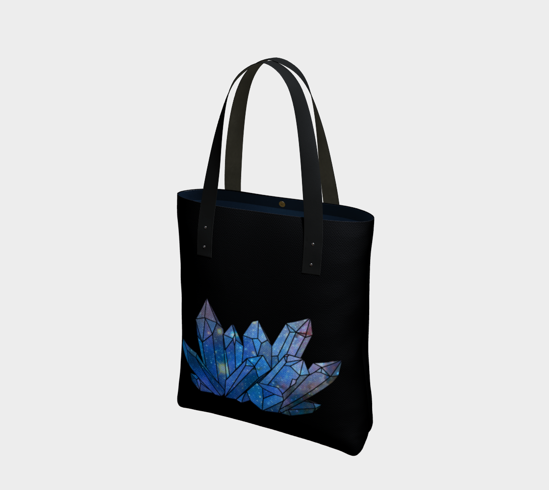 Cosmic Crystals Sapphire Cotton Tote Bag AOW preview