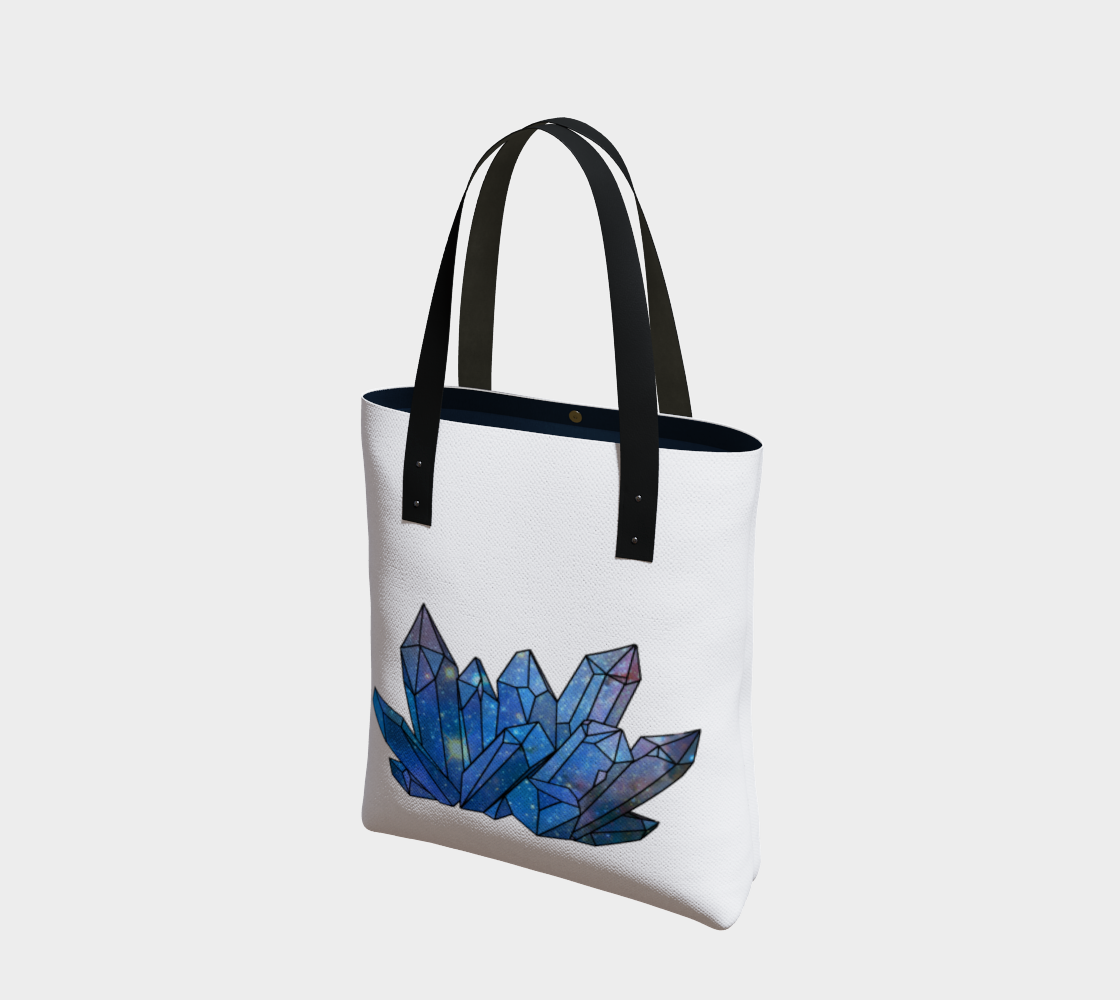 Cosmic Crystals Sapphire on Natural Cotton Tote Bag AOW preview