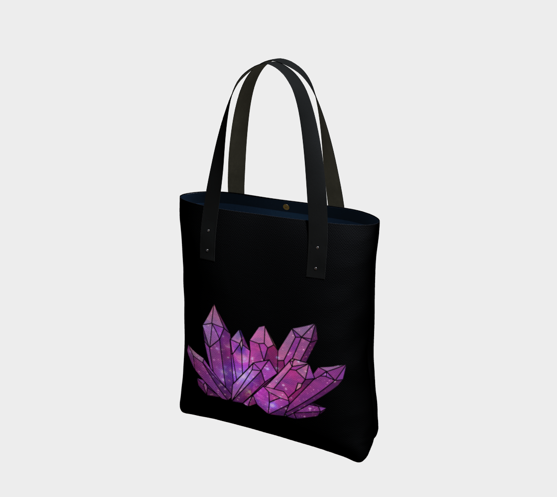 Cosmic Crystals Amethyst Cotton Tote Bag Bright AOW preview