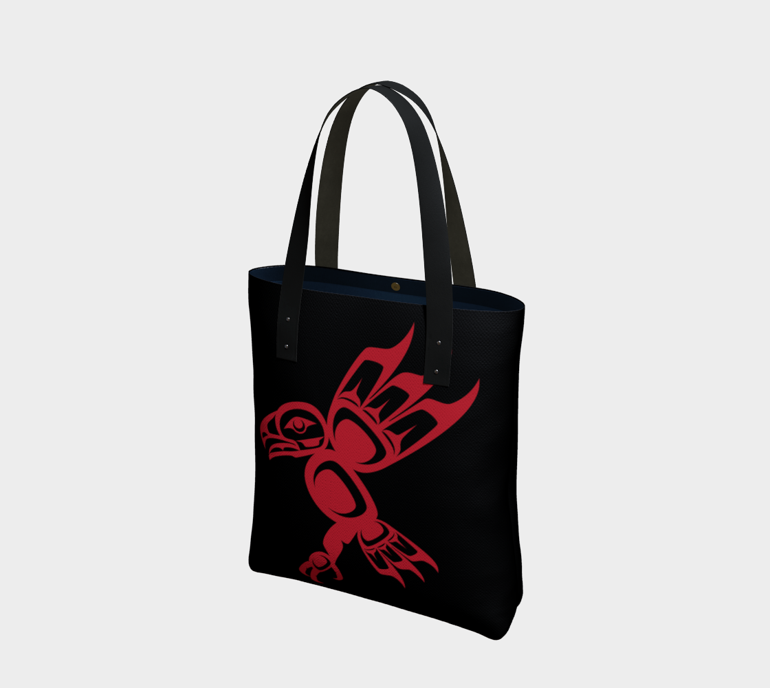 Red on Black Eagle Tote preview