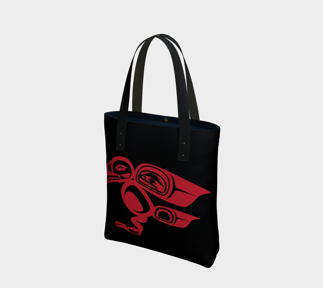 Red on Black Raven Tote preview
