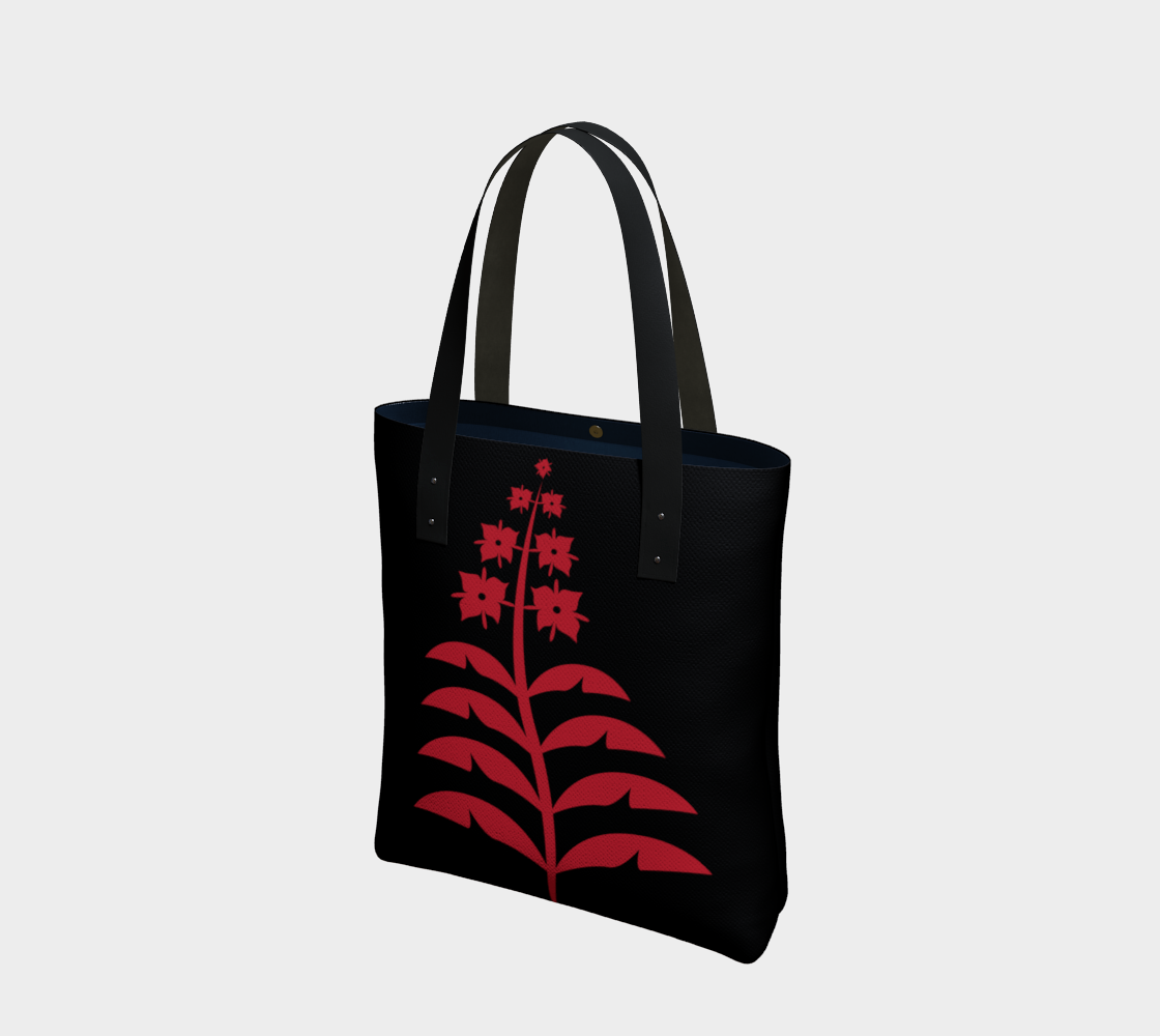 Red on Black Fireweed Tote preview