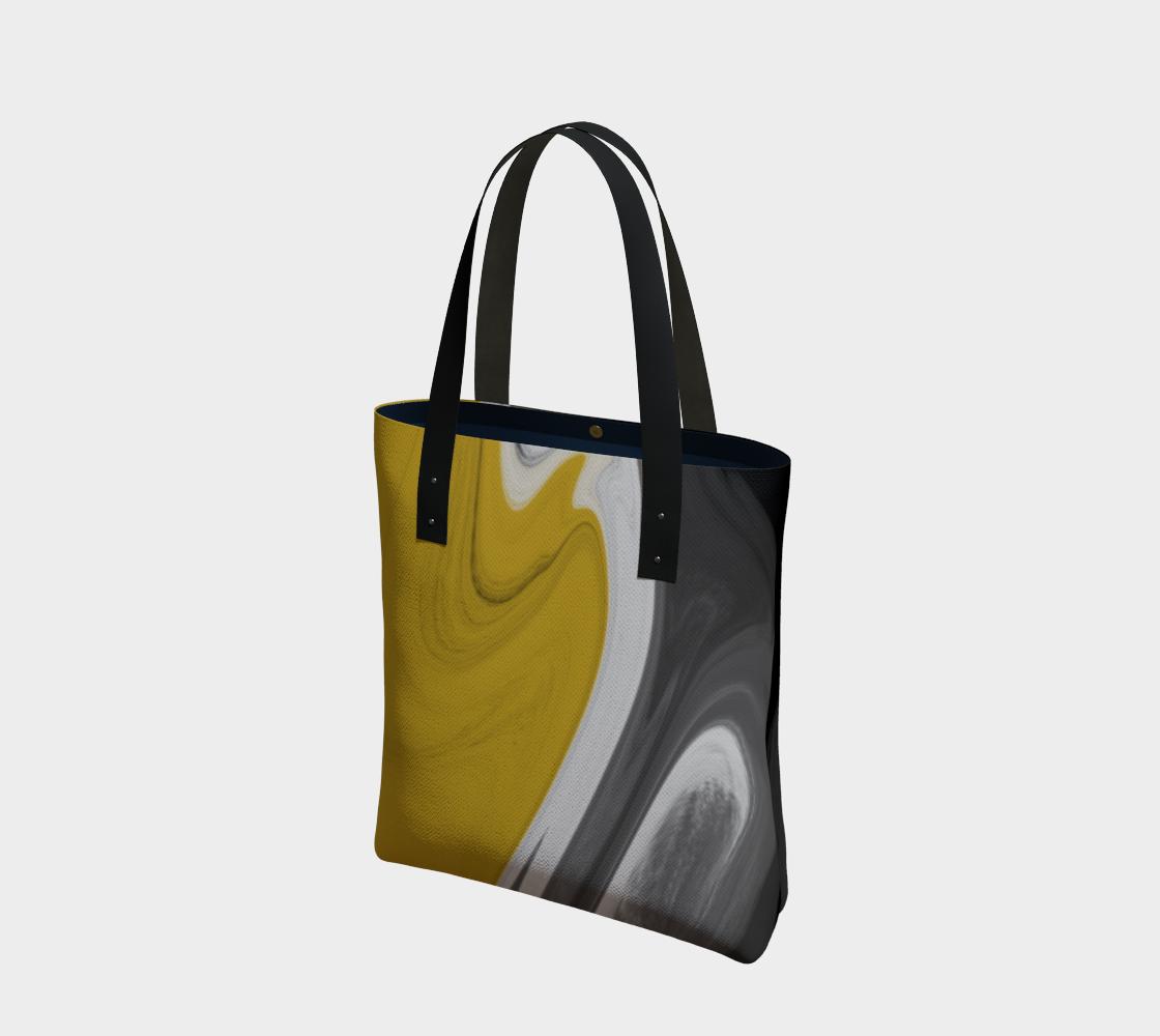 Liquid Black Gold Tote Bag preview
