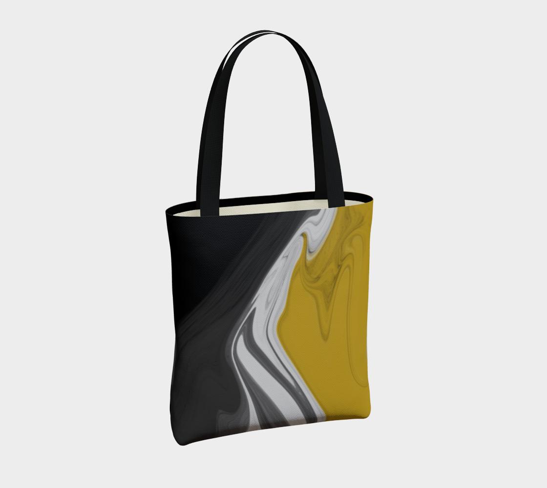 Liquid Black Gold Tote Bag preview #4