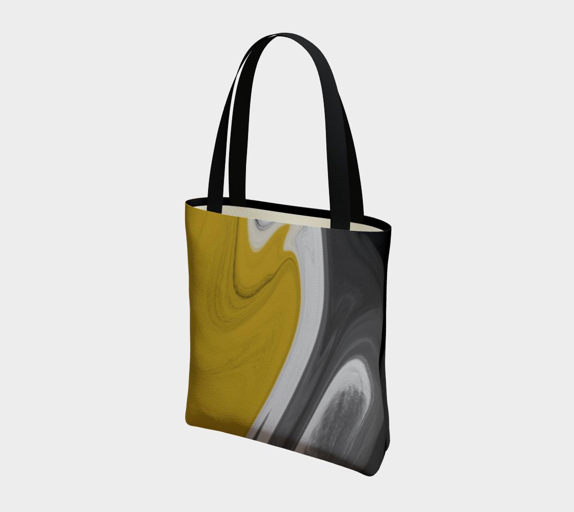 Liquid Black Gold Tote Bag preview #3