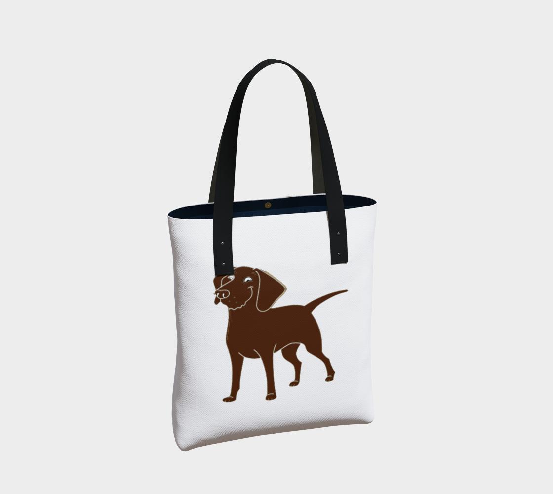 Labrador Retriever chocolate cartoon tote bag preview #2