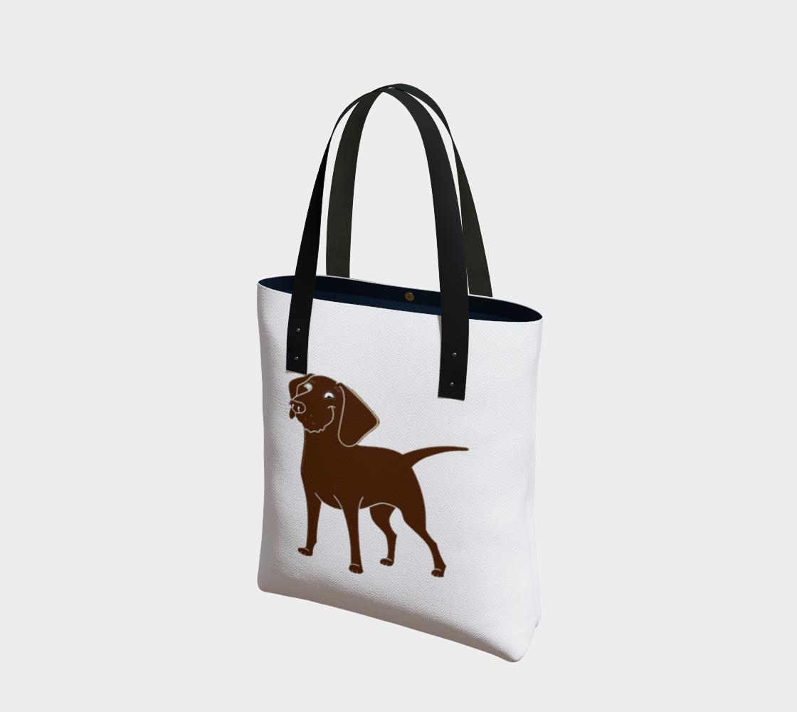 Labrador Retriever chocolate cartoon tote bag preview