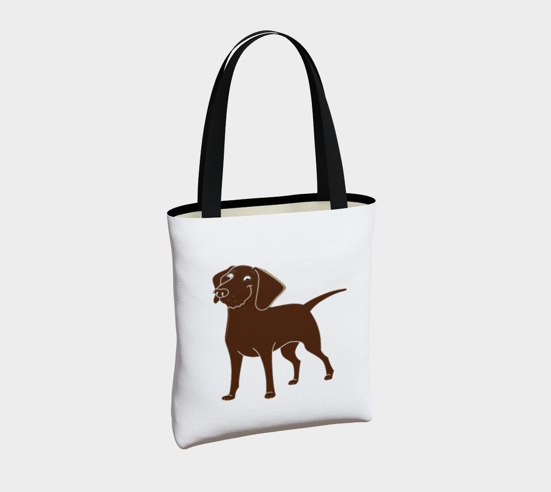Labrador Retriever chocolate cartoon tote bag preview #4