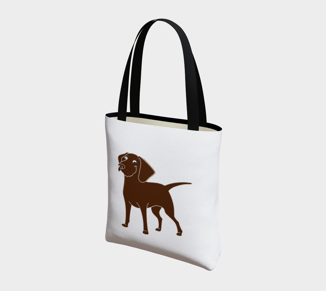 Labrador Retriever chocolate cartoon tote bag preview #3