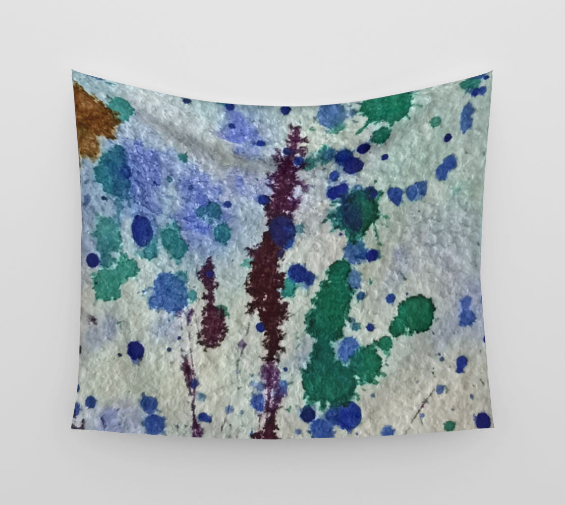 Dots and Brush Abstract - Blue preview