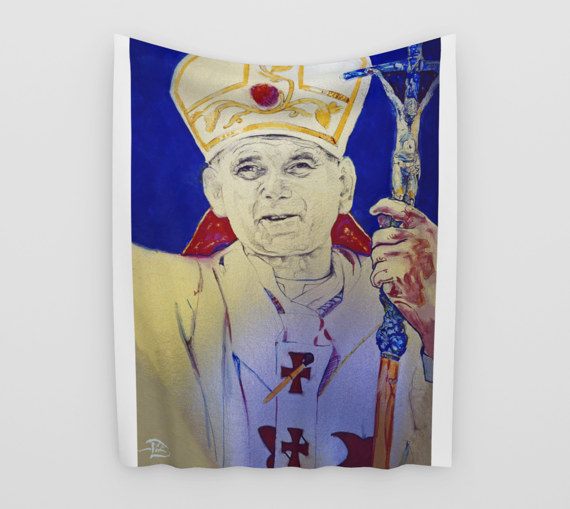 Pope John Paul II  / Official Devin Pin-Up Room Flag preview