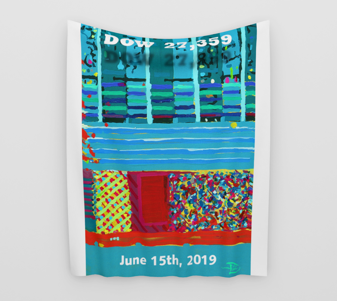 Dow 27,357 Record Day  / Official Devin Wall Flag Art preview