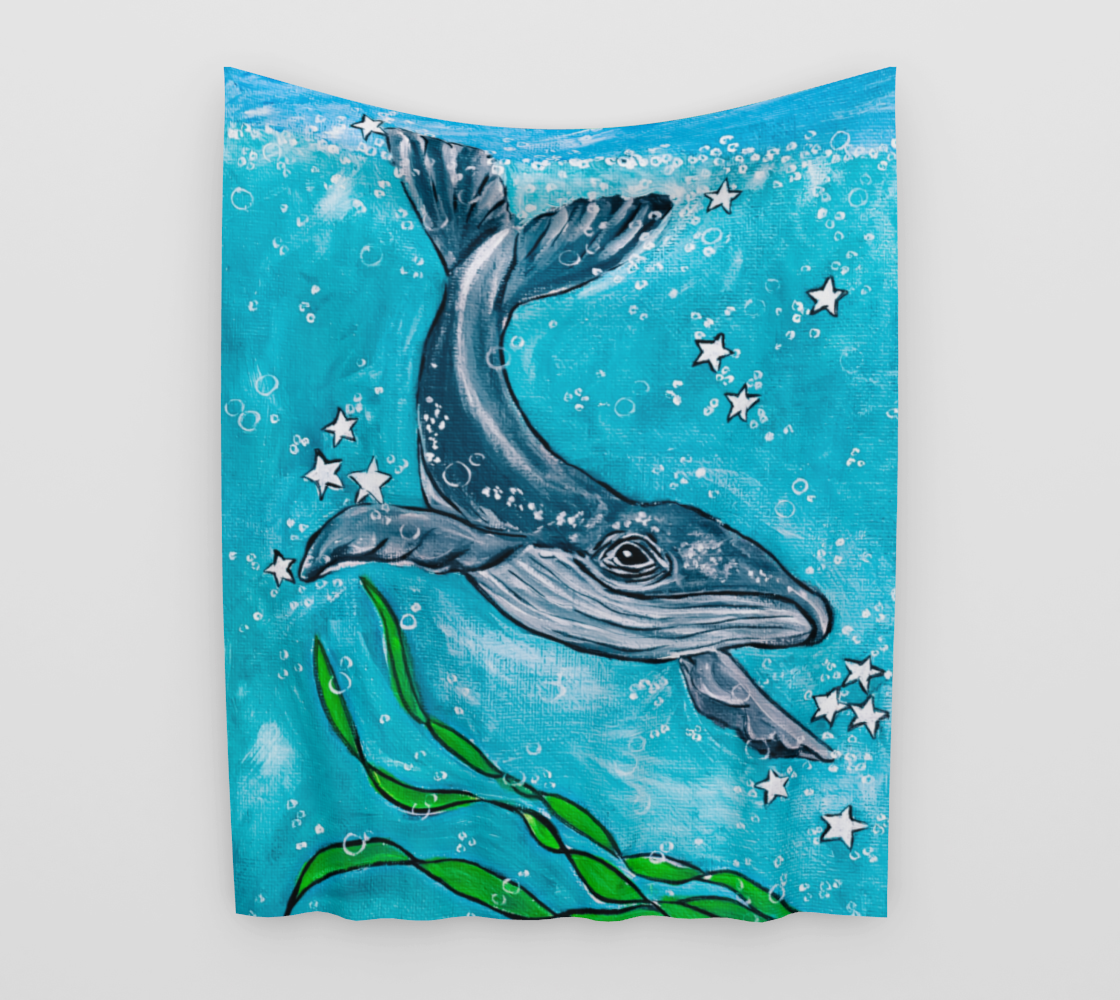 Whale Wall Tapestry preview