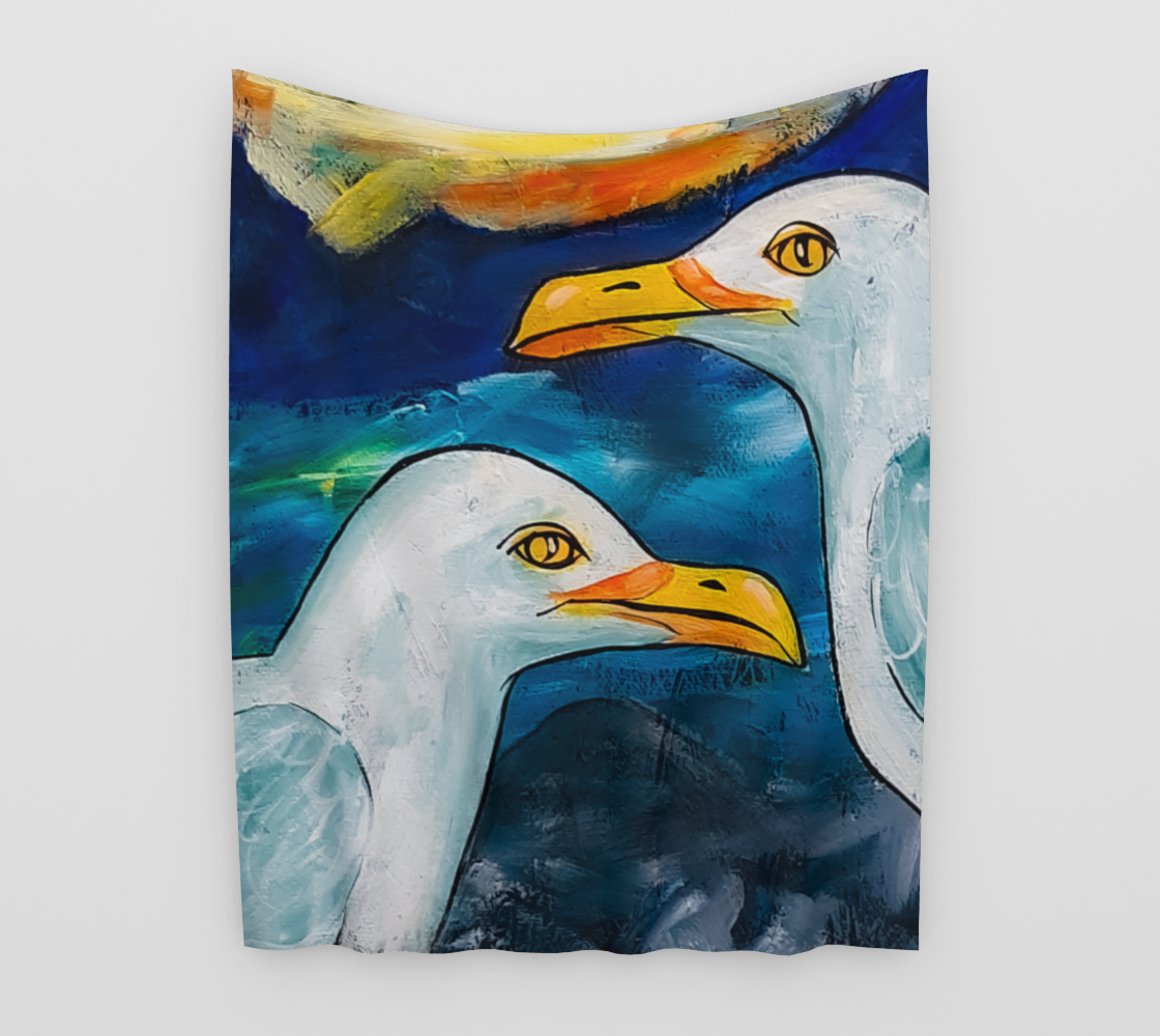 Sea Gulls Wall Tapestry preview