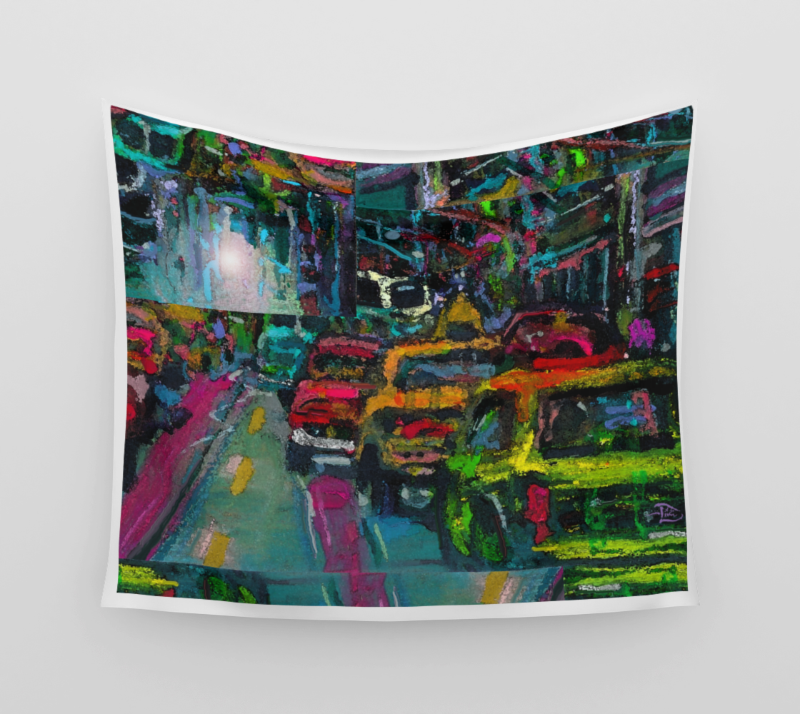 Traffic Jam Picture Window  /  Official Devin Pin-Up Room Flag preview
