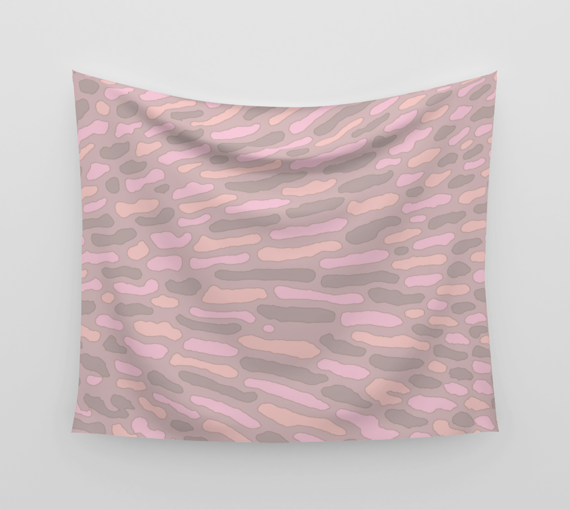 Organic Abstract - Cappuccino Wall Tapestry preview