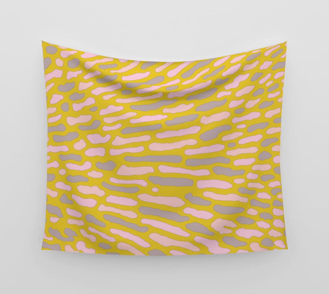 Organic Abstract - Yellow Lime Wall Tapestry preview