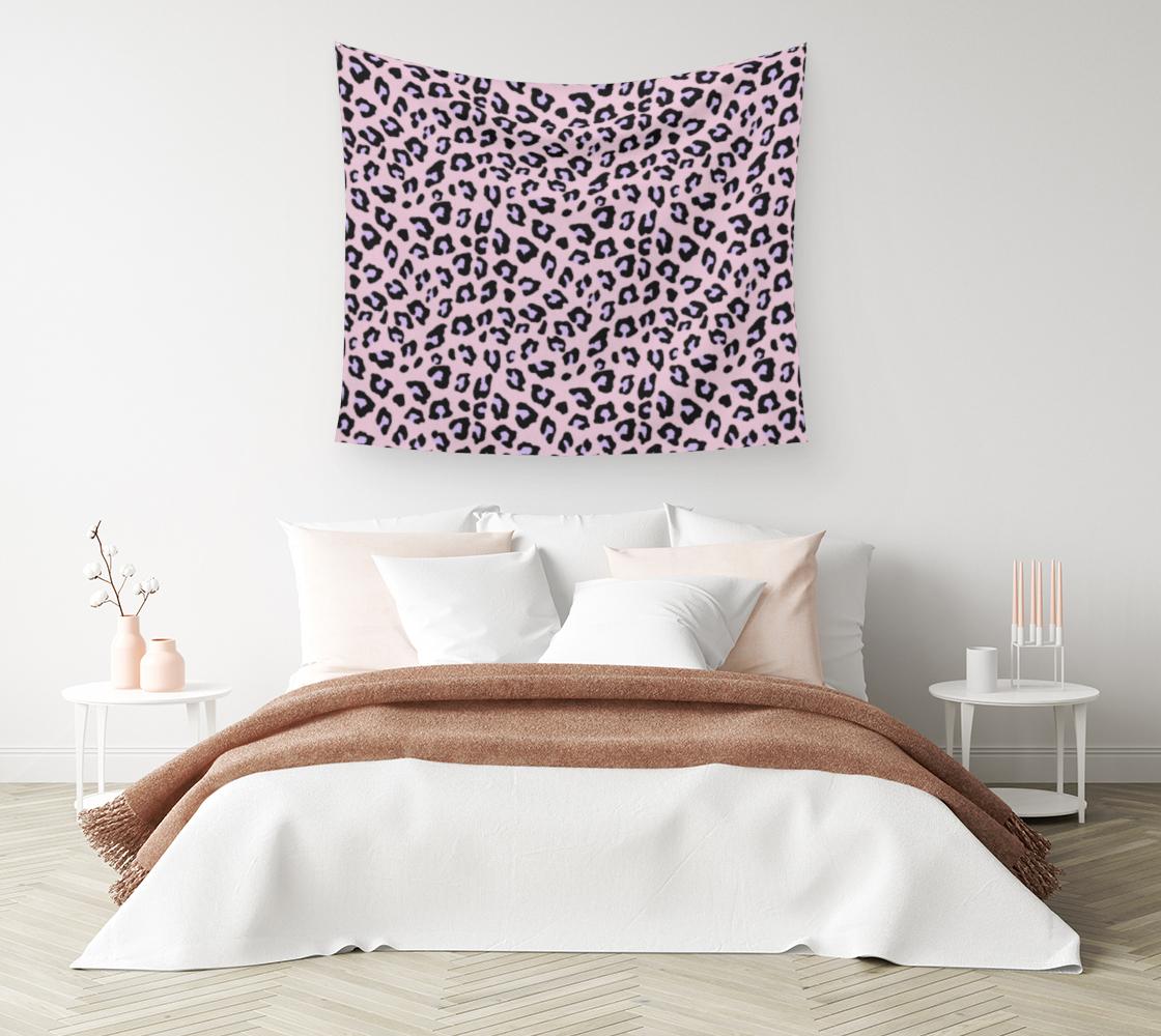 Aperçu de Leopard Print - Lavender Blush Wall Tapestry #1