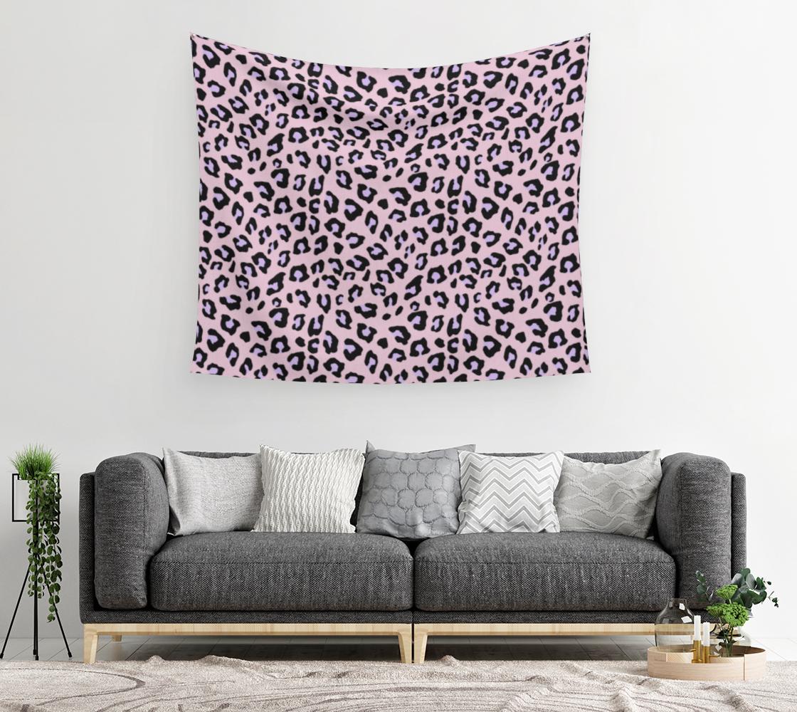 Aperçu de Leopard Print - Lavender Blush Wall Tapestry #2