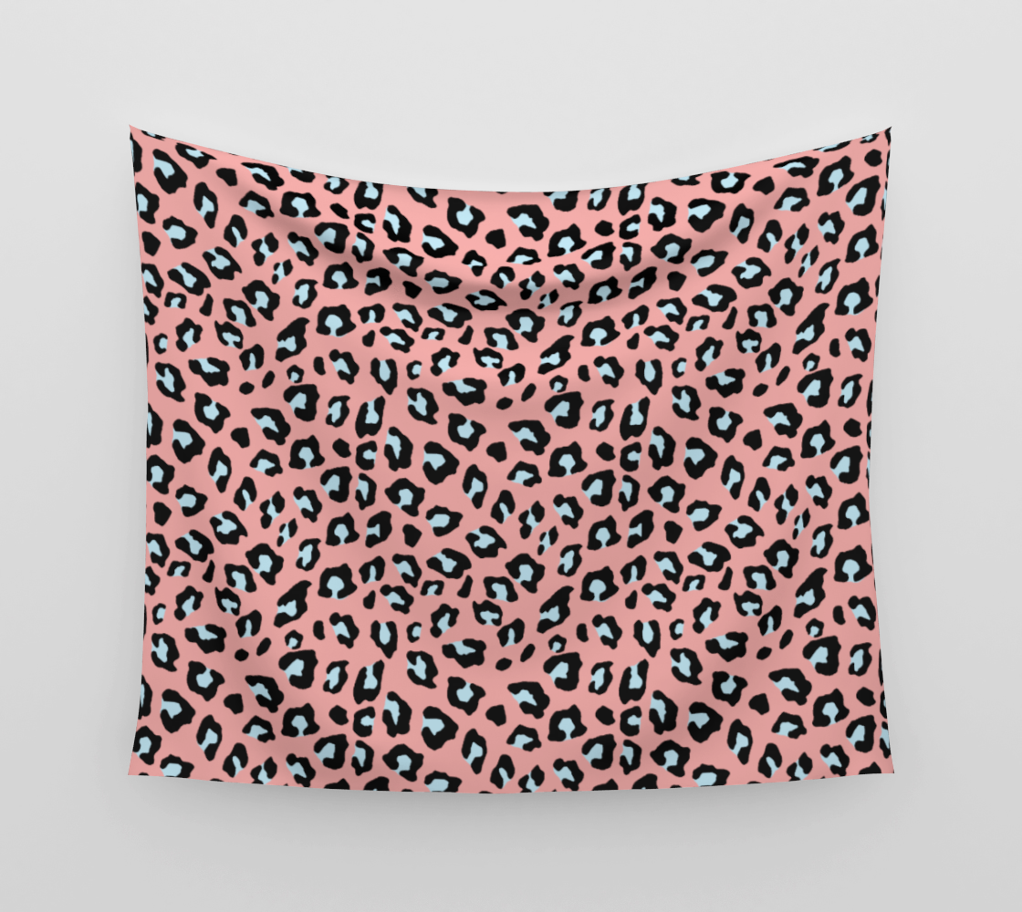 Leopard Print - Icy Peach Wall Tapestry preview