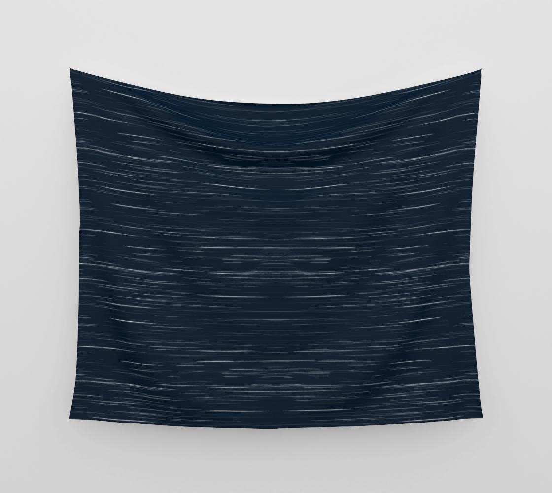 Meteor Stripes - Dark Denim Wall Tapestry preview