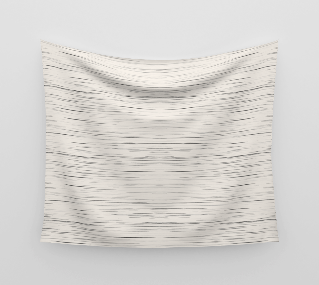 Meteor Stripes - Off White Wall Tapestry preview