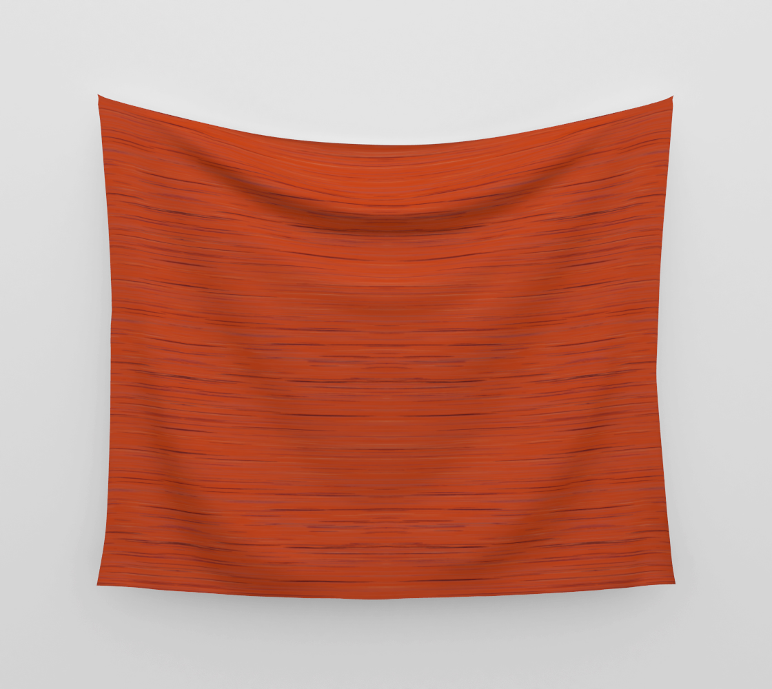 Meteor Stripes - Rust Orange Wall Tapestry preview