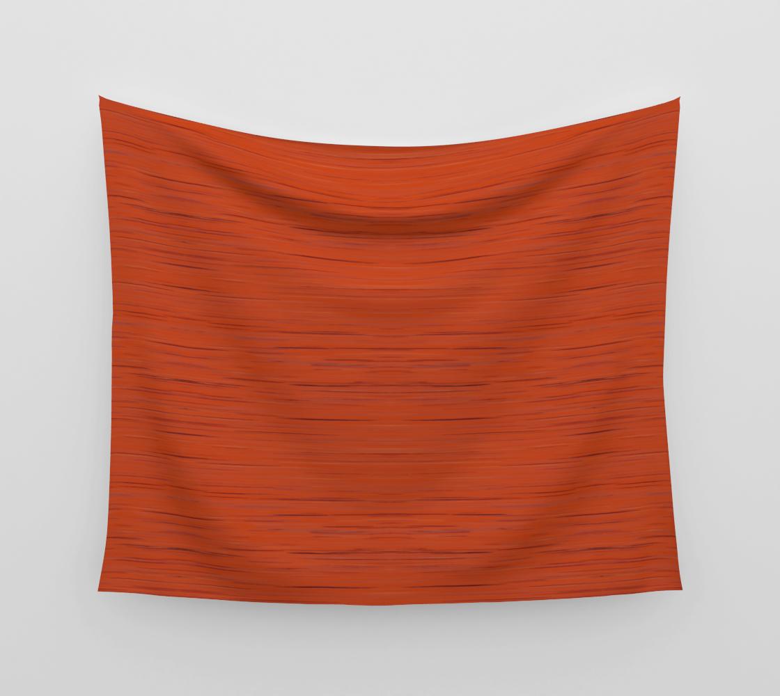 Meteor Stripes - Rust Orange Wall Tapestry aperçu