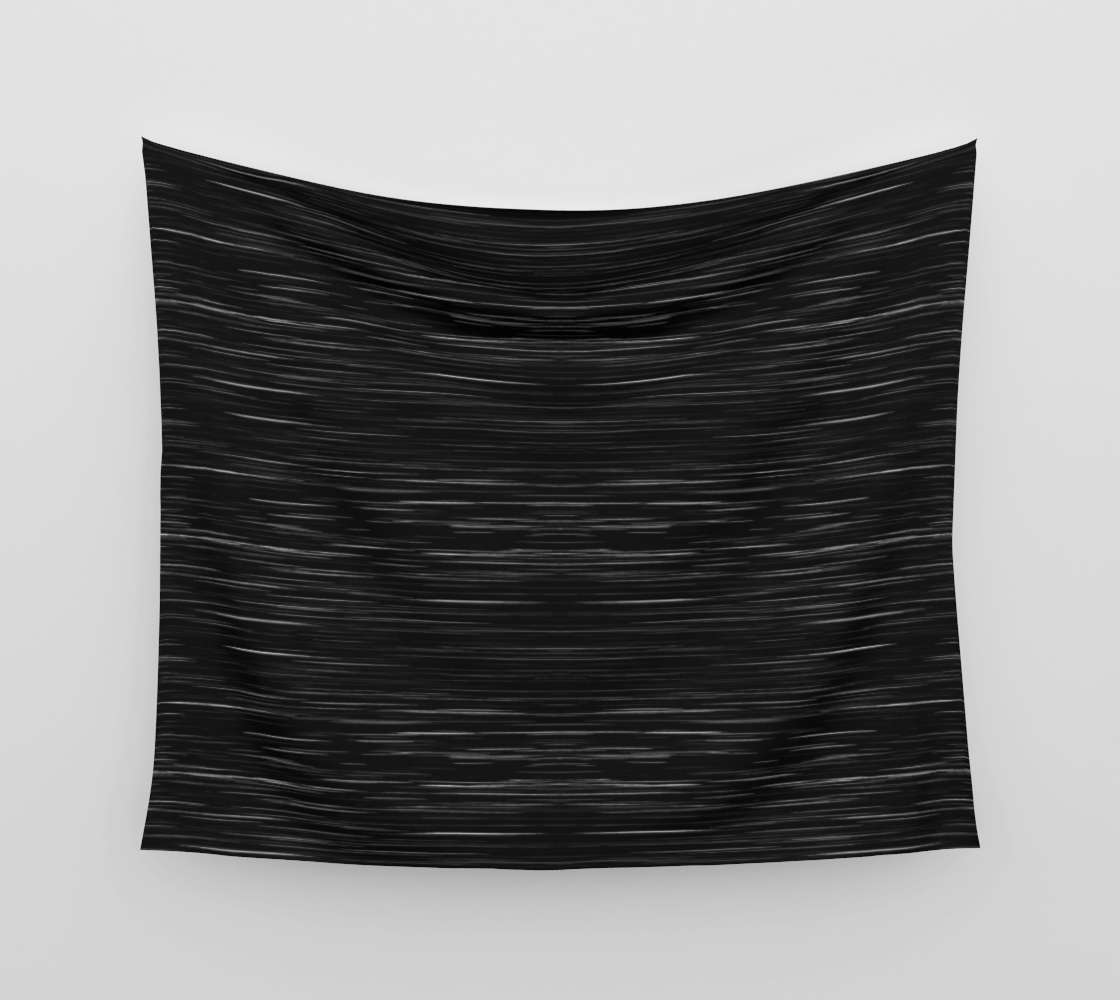 Meteor Stripes - Deep Black Wall Tapestry preview