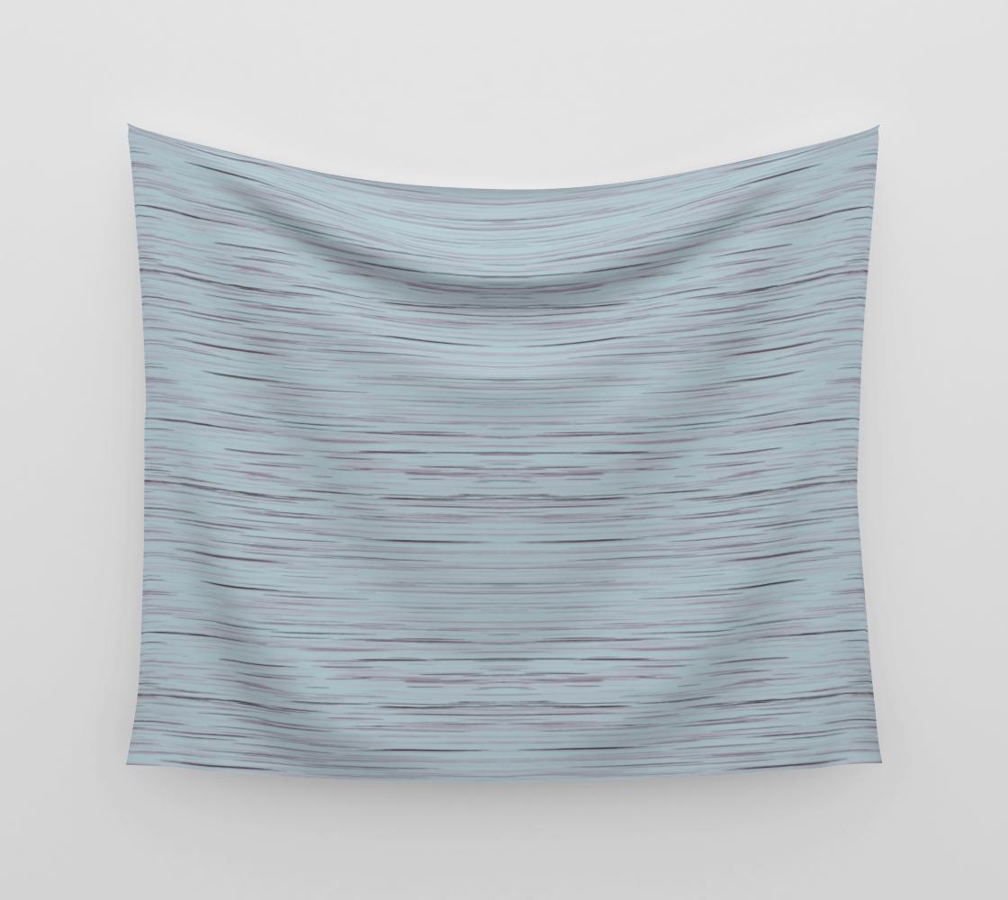 Meteor Stripes - Light Blue Wall Tapestry aperçu