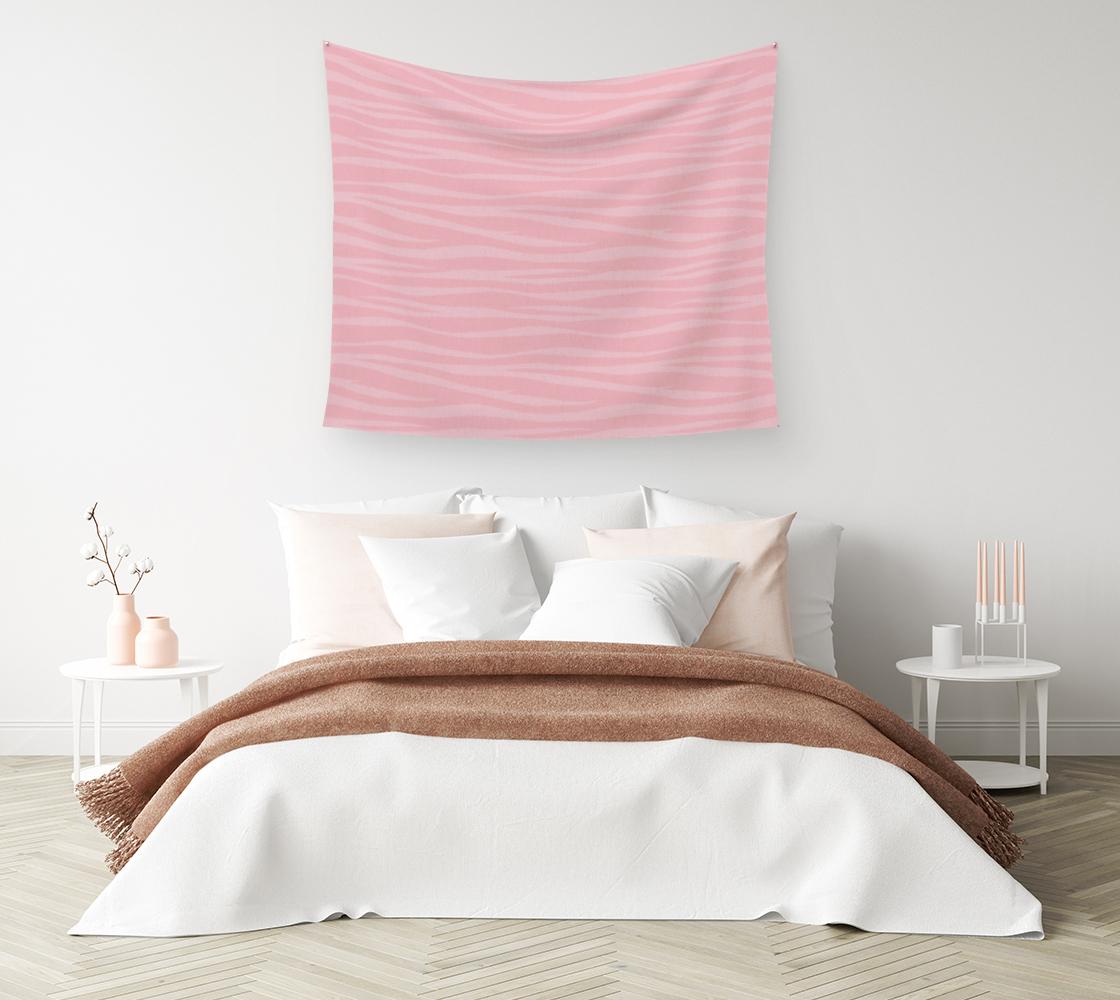 Aperçu de Zebra Print - Pink Marshmallow Wall Tapestry #1
