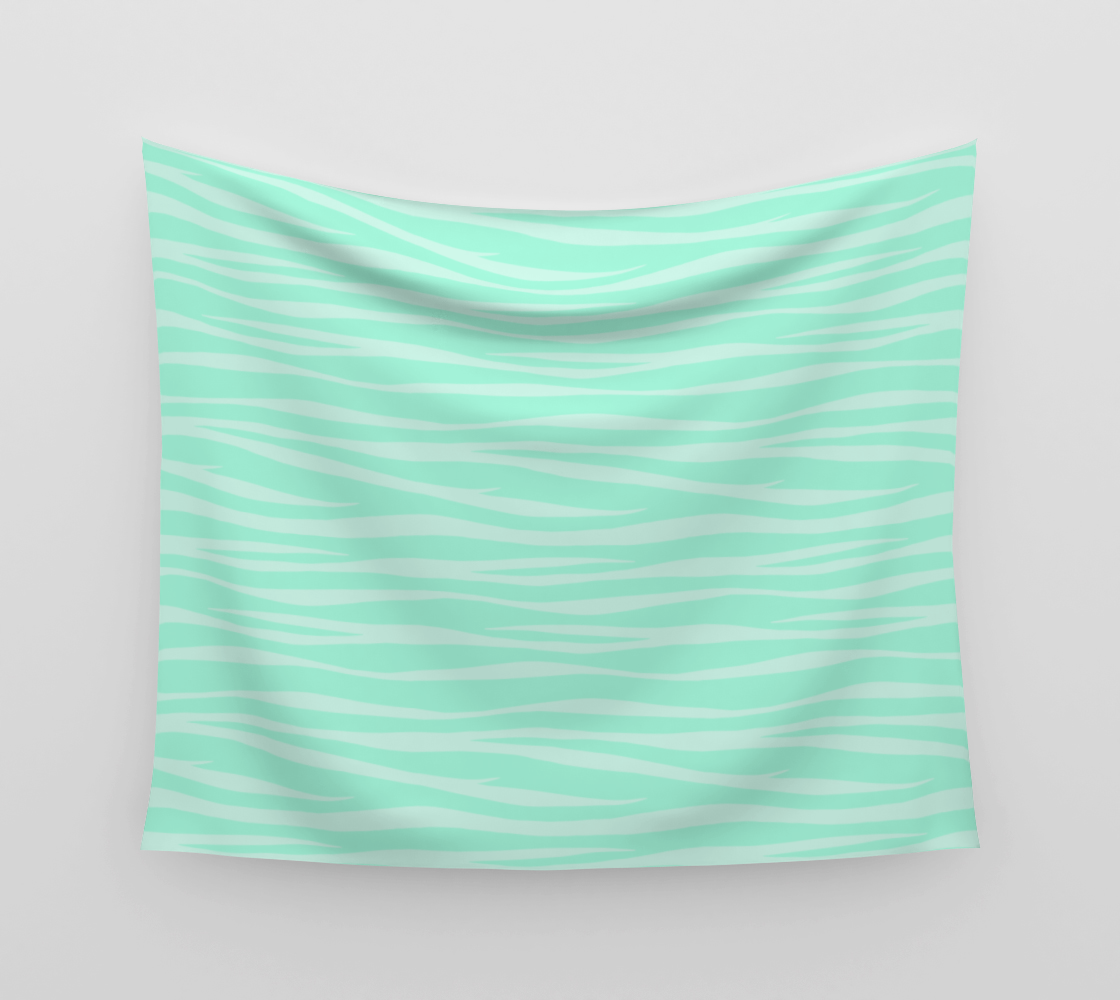 Zebra Print - Sugar Mint Wall Tapestry preview