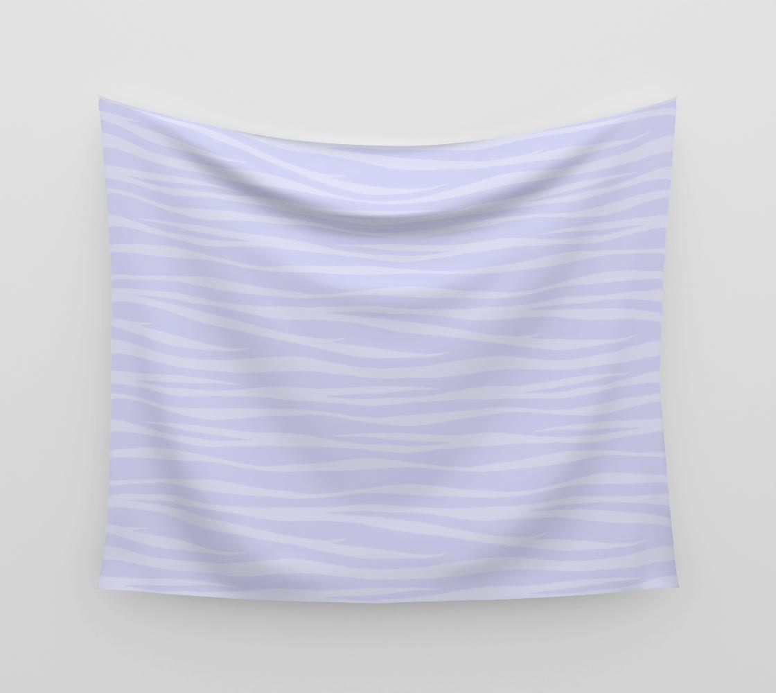 Zebra Print - Lavender Sorbet Wall Tapestry preview