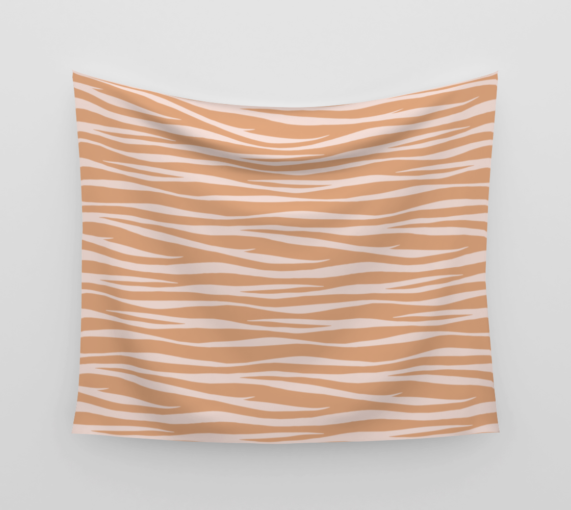 Zebra Print - Toffee Caramel Wall Tapestry preview