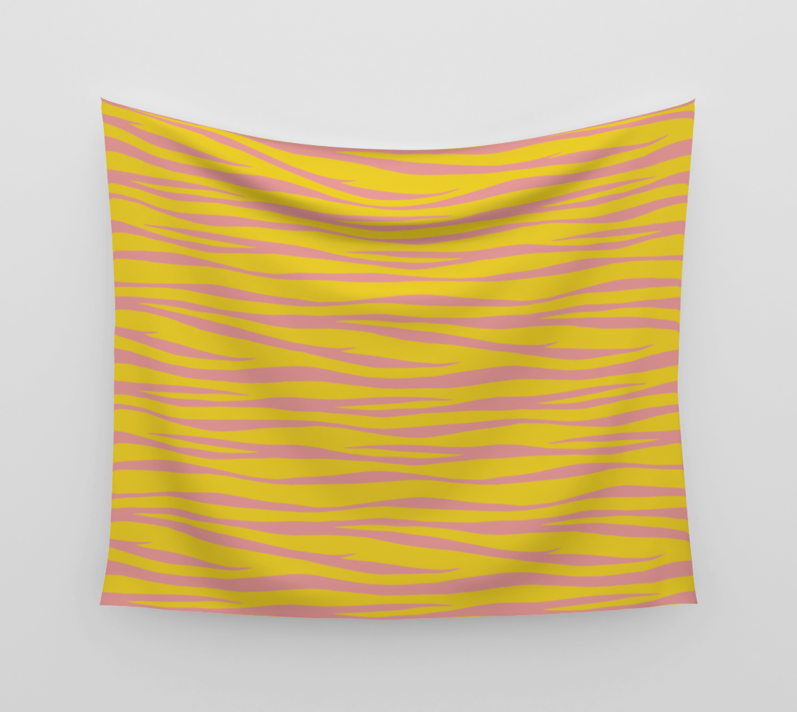 Zebra Print - Sunny Days Wall Tapestry preview