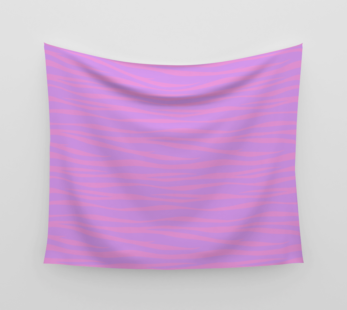 Zebra Print - Lavender Sunset Wall Tapestry preview