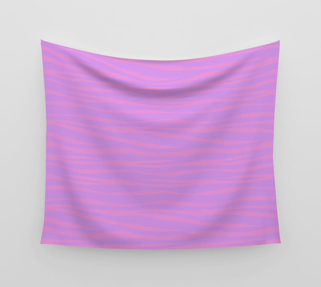 Zebra Print - Lavender Sunset Wall Tapestry aperçu