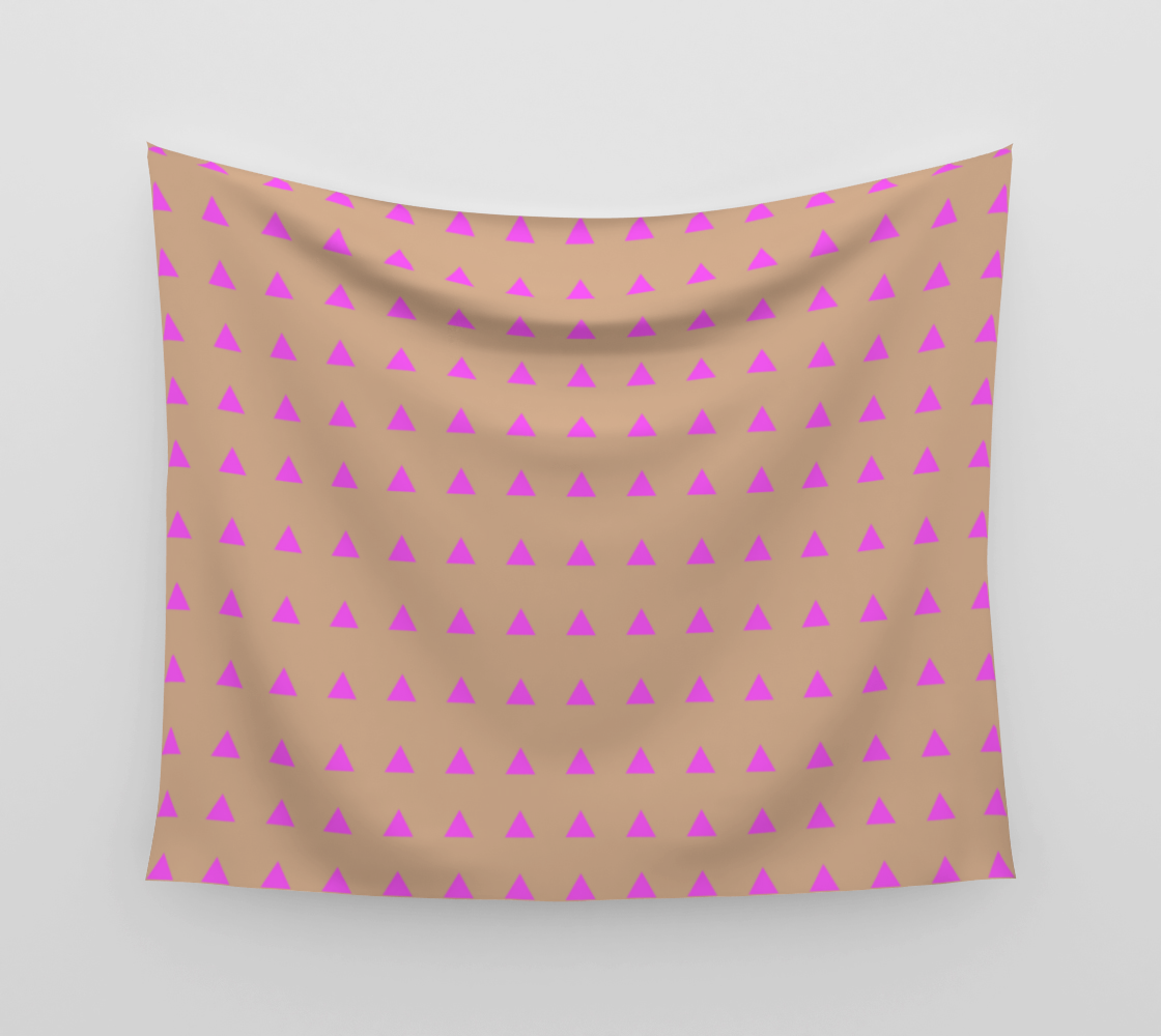 Neon Triangles - Pink Wall Tapestry preview