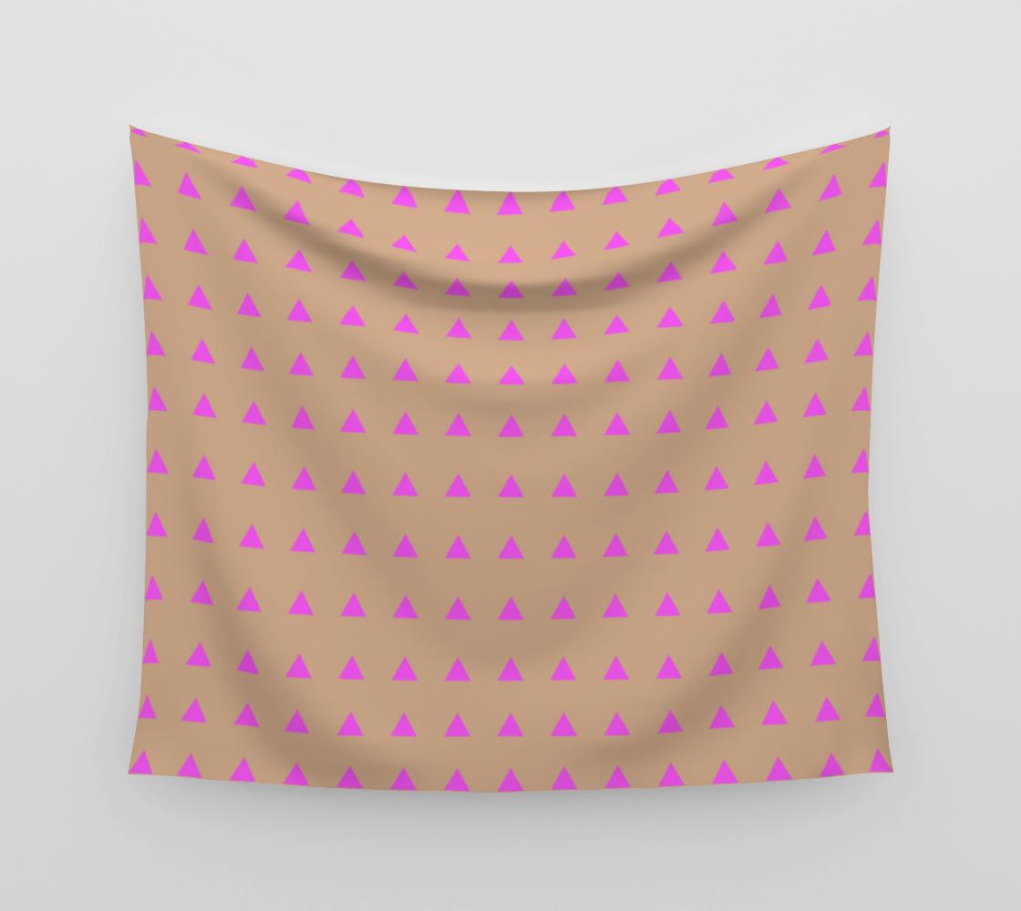 Neon Triangles - Pink Wall Tapestry aperçu