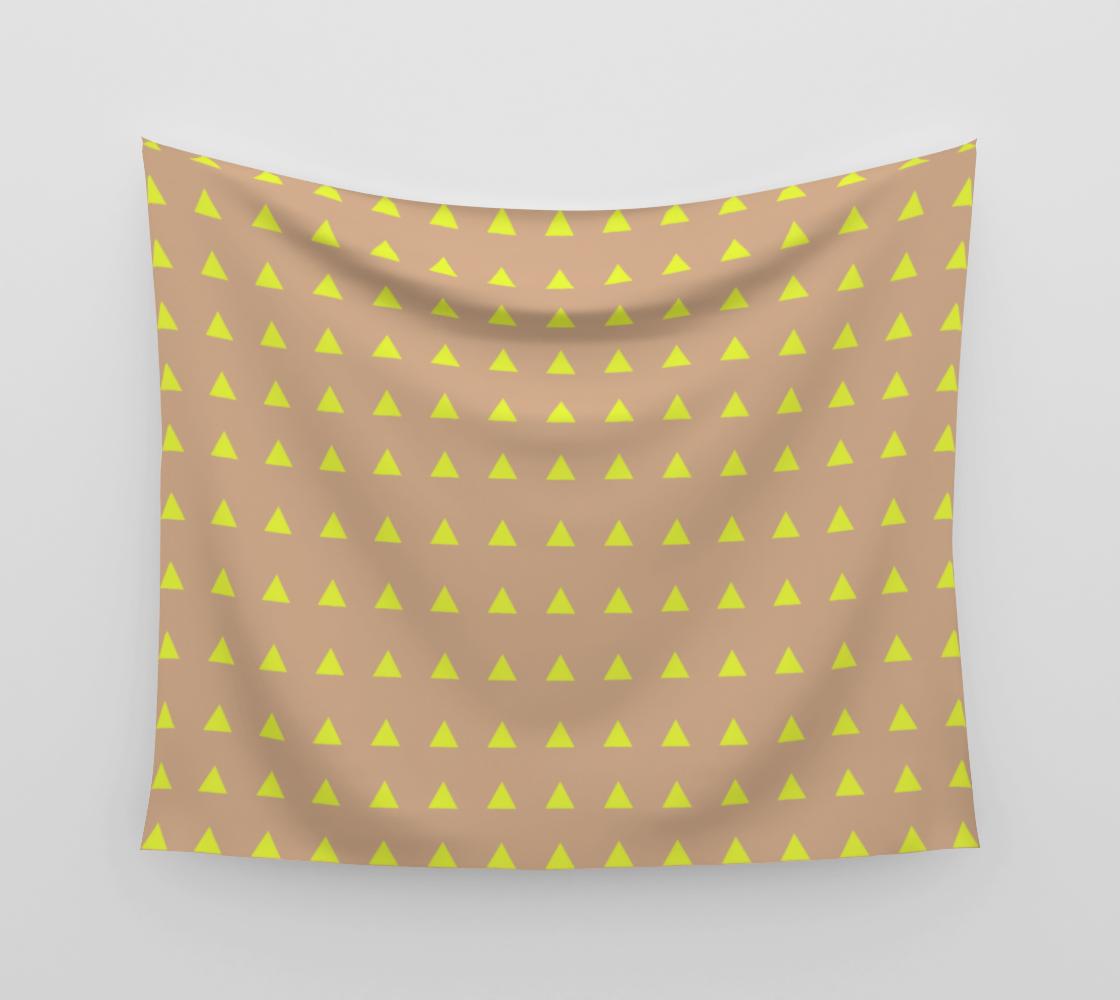 Aperçu de Neon Triangles - Yellow Wall Tapestry #3