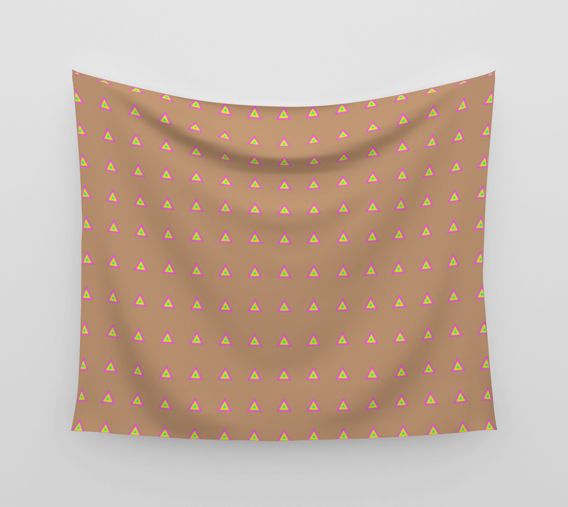 Neon Triangles - Multi Wall Tapestry preview