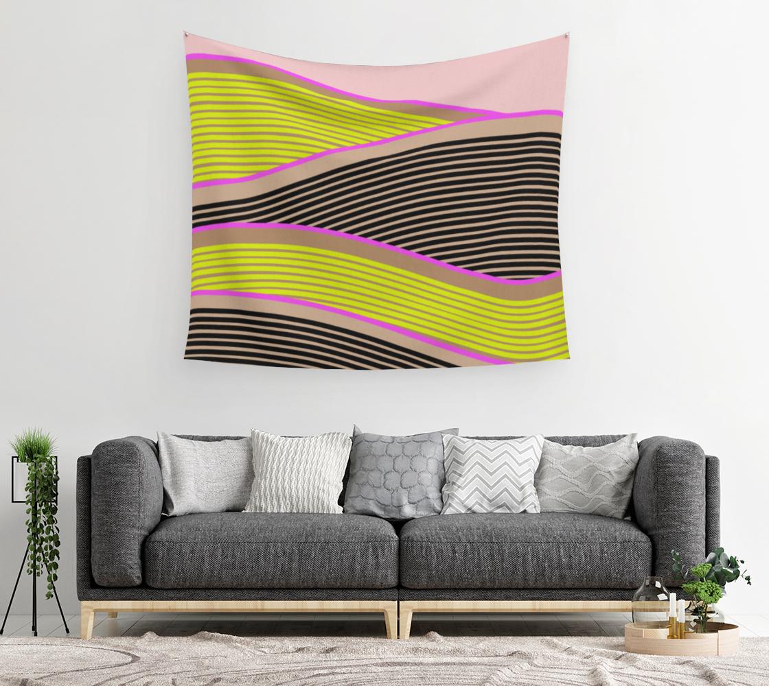 Aperçu de Happy Times - Sunny Fields Wall Tapestry #2
