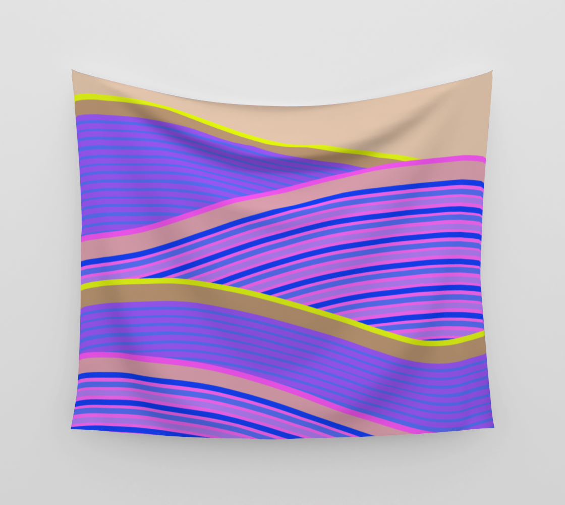 Happy Times - Lavender Hills Wall Tapestry preview